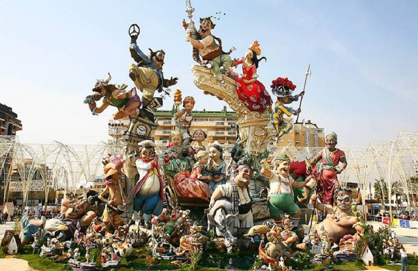 Las-fallas-2018-Valencia-in-Spain