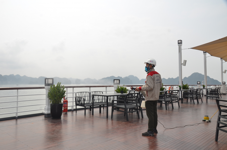 The cruise line and the restaurant chain of Paradise Vietnam Group have taken measures to ensure safety for customers since the Lunar New Year holiday