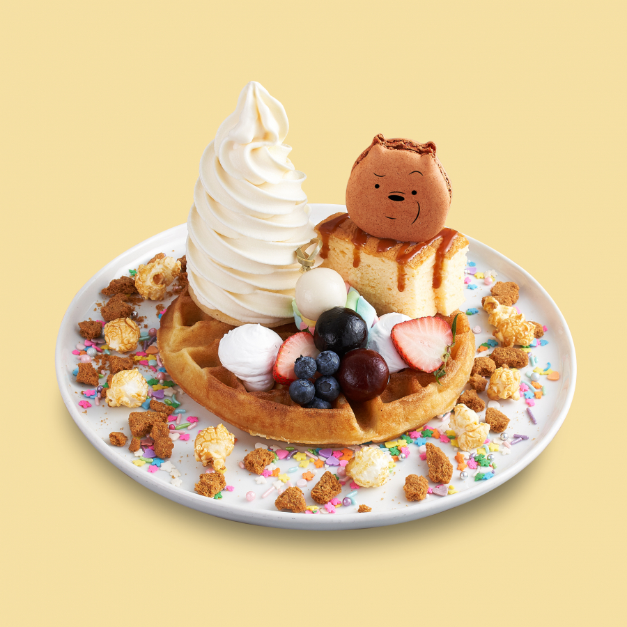 Grizzly's Favourite Fruity Caramel Waffles
