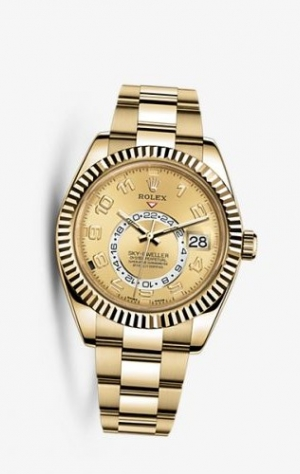 Sky-Dweller Yellow Gold Champagne