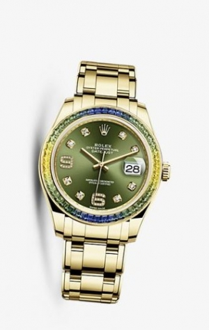 Datejust Pearlmaster 39 Fancy Green