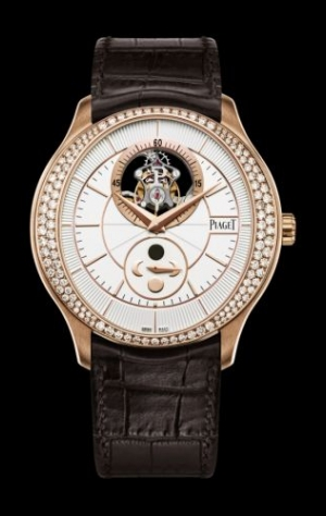 Gouverneur Tourbillon Moonphase Pink Gold Diamond