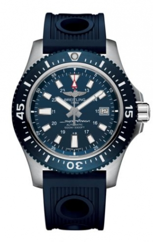 Superocean 44 Special Stainless Steel / Marine Blue / Rubber