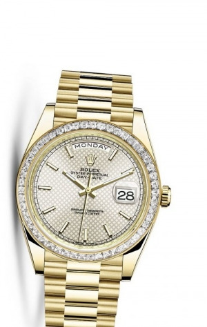 Day-Date 40 Yellow Gold Baguette / Silver