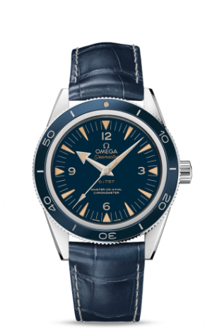 Seamaster 300 Master Co-Axial Platinum / Blue / Strap