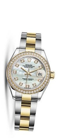 Lady-Datejust 28 Rolesor Yellow Diamond / Oyster / MOP