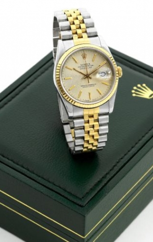 Datejust 16233 Gold Tapestry