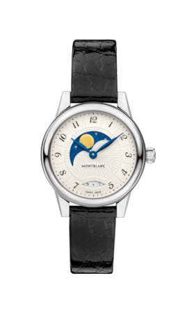 Bohème Moonphase Quartz 27 Stainless Steel / Silver / Alligator