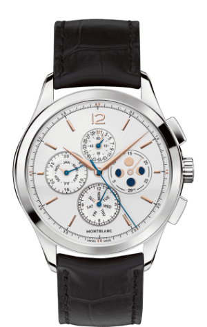 Heritage Chronometrie Chronograph Annual Calendar Stainless Steel / Silver / Alligator