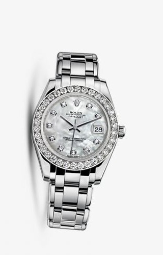 Datejust Pearlmaster 34 White Gold Diamond Mother of Pearl Diamonds