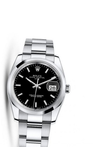 Oyster Perpetual Date 34 Stainless Steel Domed / Oyster / Black