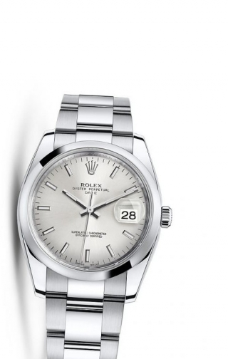 Oyster Perpetual Date 34 Stainless Steel Domed / Oyster / Silver