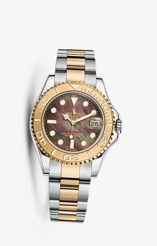 Yacht-Master 35 Rolesor Black Mother of Pearl