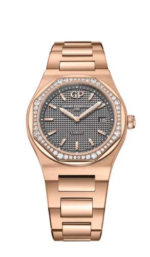 Laureato 34 Quartz Pink Gold / Diamond / Grey