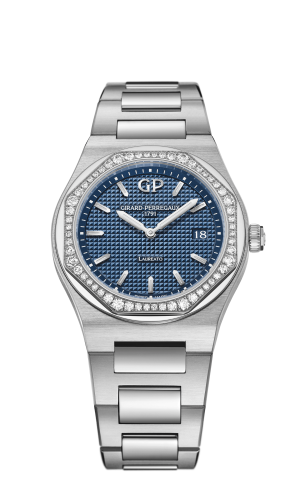 Laureato 34 Quartz Stainless Steel / Diamond / Blue