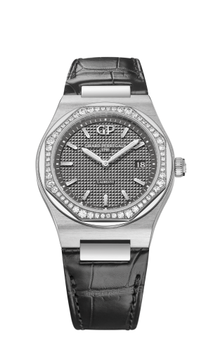 Laureato 34 Quartz Stainless Steel / Diamond / Grey / Alligator