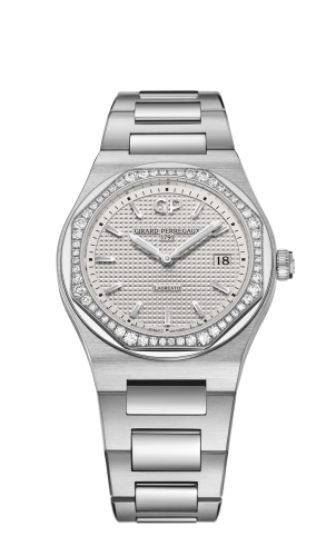 Laureato 34 Quartz Stainless Steel / Diamond / Silver