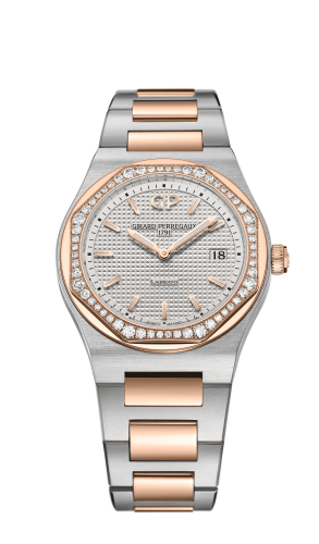 Laureato 34 Quartz Stainless Steel / Pink Gold / Diamond / Silver