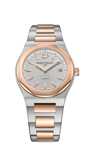 Laureato 34 Quartz Stainless Steel / Pink Gold / Silver