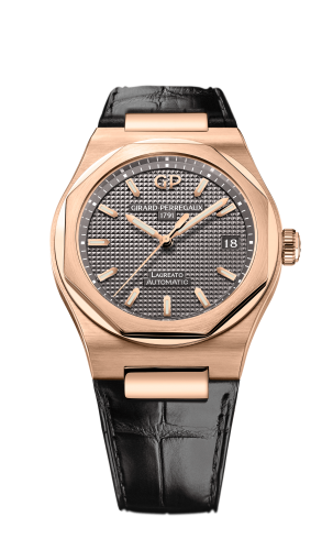 Laureato 38 Automatic Pink Gold / Grey / Alligator