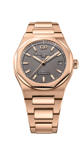 Laureato 38 Automatic Pink Gold / Grey
