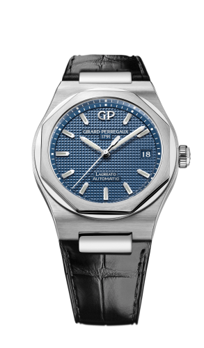 Laureato 38 Automatic Stainless Steel / Blue / Alligator