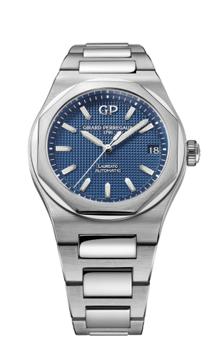 Laureato 38 Automatic Stainless Steel / Blue