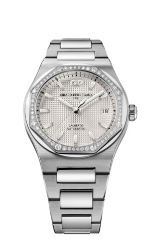 Laureato 38 Automatic Stainless Steel / Diamond / Silver