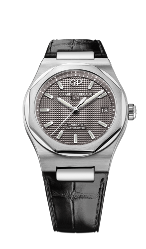 Laureato 38 Automatic Stainless Steel / Grey / Alligator