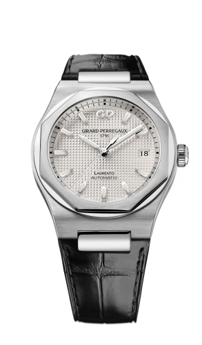 Laureato 38 Automatic Stainless Steel / Silver / Alligator