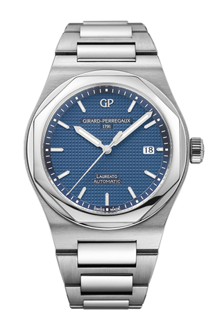 Laureato 41 Automatic Stainless Steel / Blue