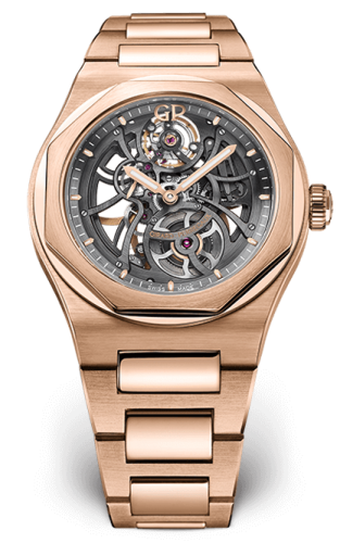 Laureato 42 Automatic Skeleton Pink Gold / Bracelet