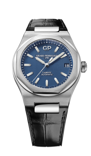 Laureato 42 Automatic Stainless Steel / Blue / Alligator