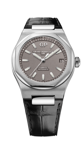 Laureato 42 Automatic Stainless Steel / Grey / Alligator