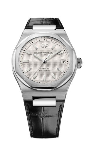 Laureato 42 Automatic Stainless Steel / Silver / Alligator