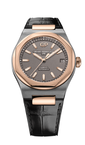 Laureato 42 Automatic Titanium / Pink Gold / Grey / Alligator