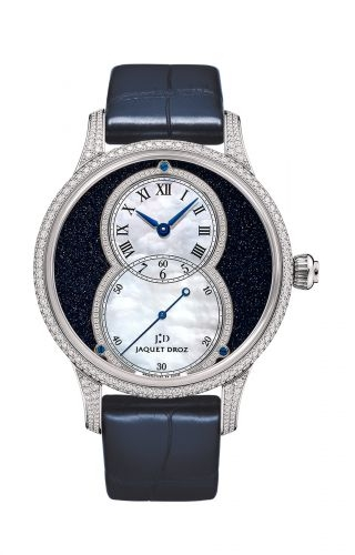 Grande Seconde 39 Aventurine Diamond / White Gold