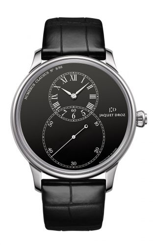 Grande Seconde 43 Black Enamel / White Gold