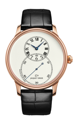Grande Seconde 43 Ivory Enamel / Red Gold