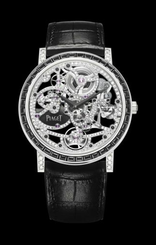 Altiplano Skeleton White Gold Black Diamonds