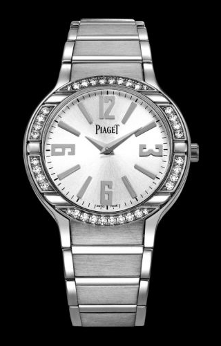 Polo 32 Quartz White Gold Diamond