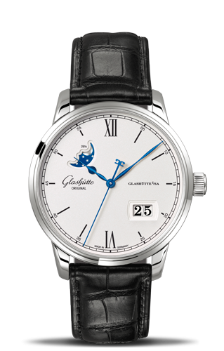 Senator Excellence Panorama Date Moonphase Stainless Steel