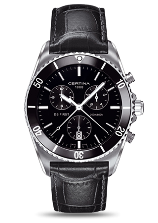 DS First Ceramic Chronograph Leather