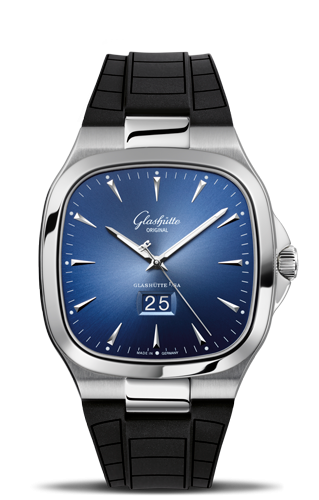 Seventies Panorama Date Blue Rubber