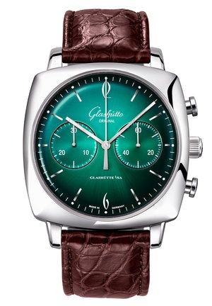 Sixties Square Chronograph Forest