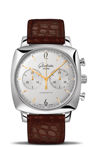 Sixties Square Chronograph Silver