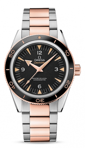 Seamaster 300 Master Co-Axial Stainless Steel / Sedna Gold / Black / Bracelet
