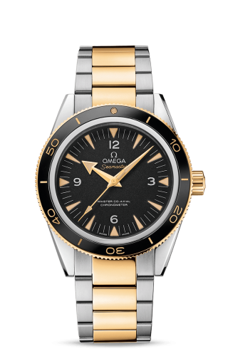 Seamaster 300 Master Co-Axial Stainless Steel / Yellow Gold / Black / Bracelet