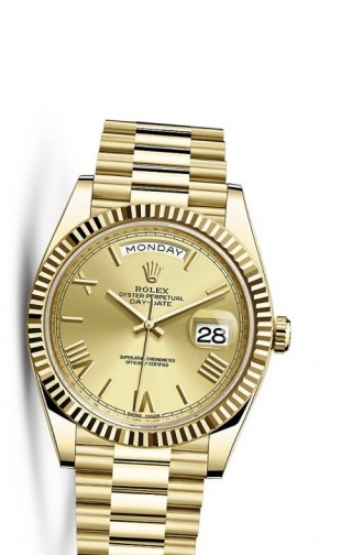 Day-Date 40 Yellow Gold / Champagne Roman