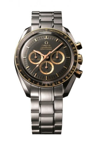 Speedmaster Professional Moonwatch Stainless Steel / Red Gold / Black / Bracelet / Apollo 15 35th Anniversary